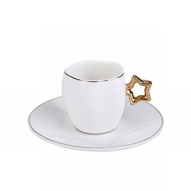 Karaca Star 6 Kişilik Kahve Fincan Takımı Renkli